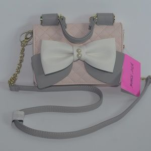 Betsey Johnson Double Entry Crossbody Purse